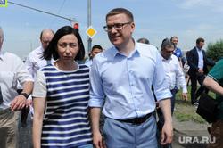 Объезд Алексеем Текслером объектов дорожного строительства. Челябинск