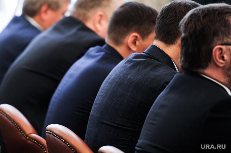 Координационный совет по вопросам реализации экологической политики в Челябинской области. Челябинск, чиновники, пиджаки, спины чиновников
