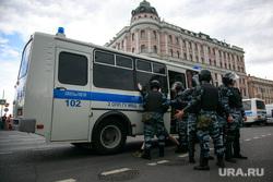 Несанкционированный митинг на Тверской улице. Москва