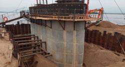 Строительство моста компанией Руслана Байсарова началось в декабре 2016 года
