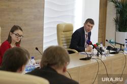 Первая пресс-конференция губернатора Пермского края Максима Решетникова. Пермь