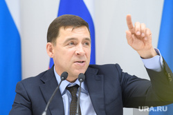 Пресс-конференция  губернатора Свердловской области Евгения Куйвашева в конгресс-центре по итогам «Иннопром 2019»