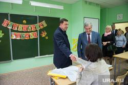 Евгений Куйвашев в школе №175. Екатеринбург