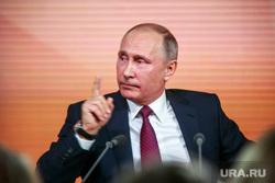 Ежегодная итоговая пресс-конференция президента РФ Владимира Путина. Москва