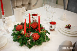 Новогоднее оформление стола. Екатеринбург