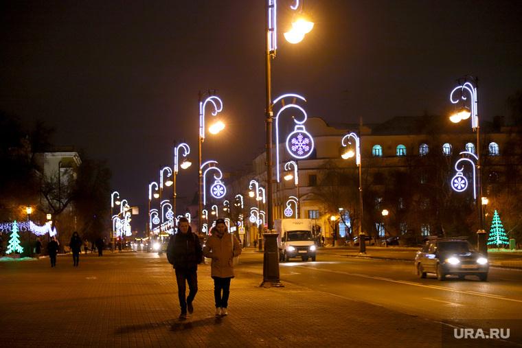 Новогодние городские украшения. Тюмень