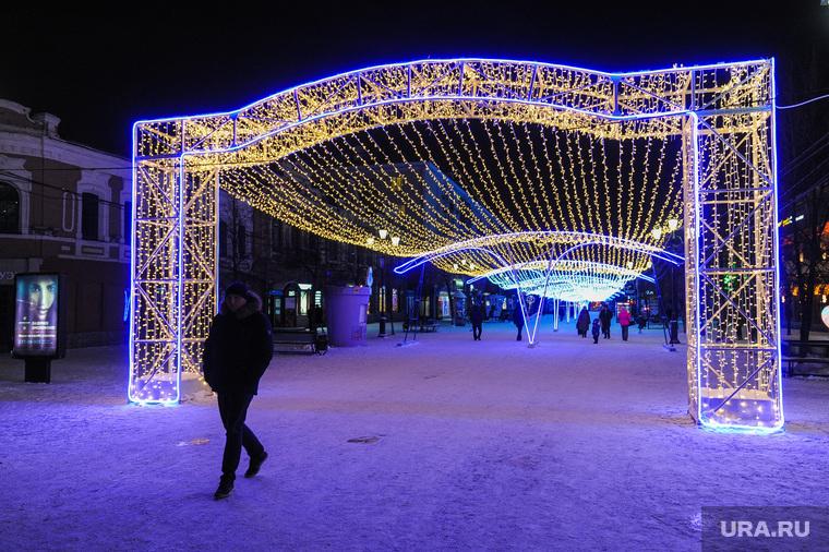 Иллюминация к Новому году. Челябинск