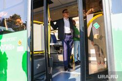 Текслер Алексей на презентации автобусов на газомоторном топливе. Челябинск