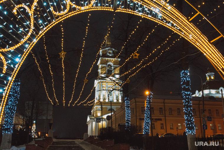 Украшение города к Новому Году. Пермь, галерея, украшение города, новогоднее оформление, новогодние огни