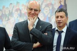 Совещание и подписание соглашения между Куйвашевым и президентом КХЛ Дмитрием Чернышенко. Екатеринбург