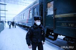 """Проходящий поезд """"Пекин-Москва"""". Тюмень"""