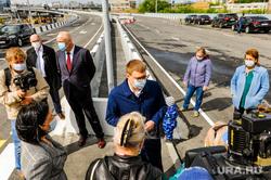 Открытие дорожной развязки по улице Братьев Кашириных с участием Алексея Текслера. Челябинск