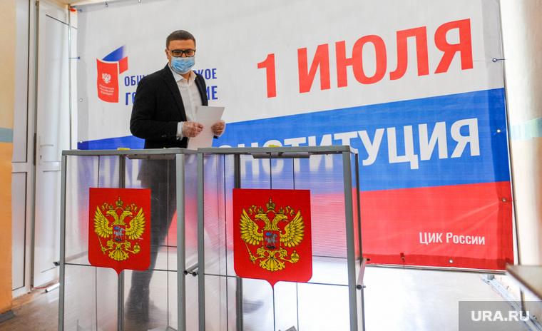 Текслер голосует на избирательном участке. Челябинск, текслер алексей, избирательный участок, голосование