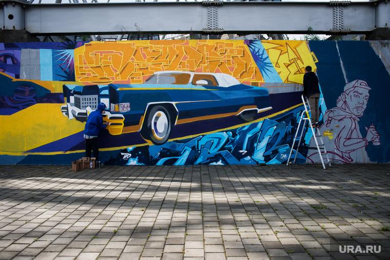 Арт-объекты фестиваля Стенограффия. Екатеринбург, граффити, художники, арт-объект текстиль