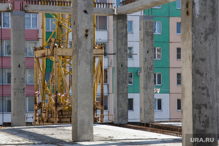 Строительство школы в 145 микрорайоне. Магнитогорск, жилой дом, сваи, колонны, стройка