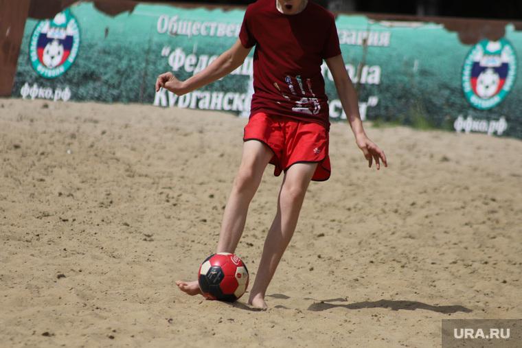 День защиты детей. Курган, мяч, футбол, песок, футбольный мяч, пляжный футбол