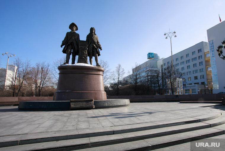 Екатеринбург готовится к ЧМ-2018, татищев и де геннин, город екатеринбург, памятник основателям города