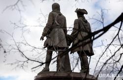 Памятник Татищеву и де Геннину. Екатеринбург