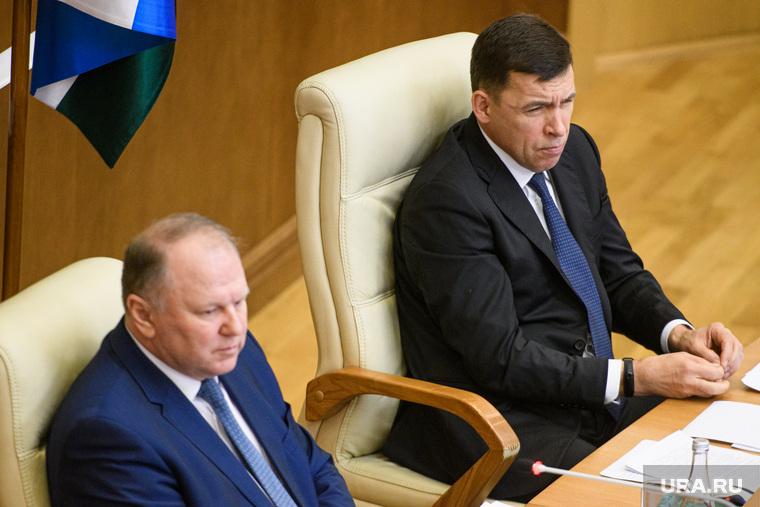 Заседание в заксобрании с полпредом по нацпроектам. Екатеринбург, куйвашев евгений, цуканов николай