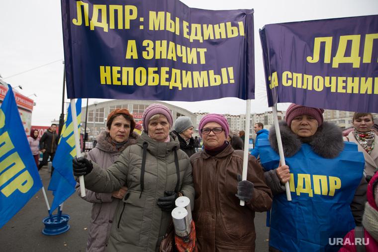 Митинг ЛДПР в день народного единства на территории центрального рынка. г. Курган  , пенсионерки, лдпр