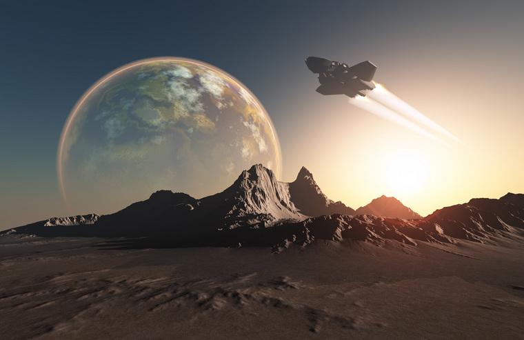 Клипарт depositphotos.com, космос, космический корабль, астрономия, планеты, космический аппарат