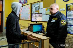 Тренировка сотрудников Росгвардии на территории гимназии. Челябинск