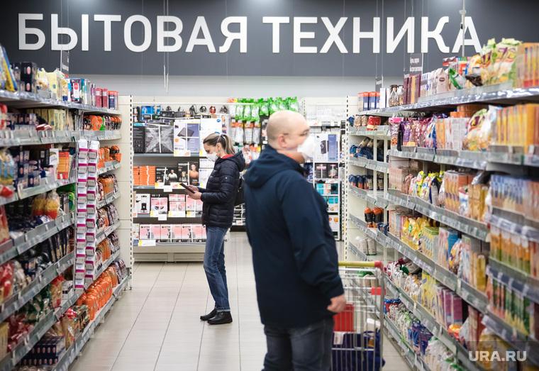 Режим самоизоляции. Сургут, продукты, покупатели, окей, магазин, люди в медицинских масках, режим самоизоляции