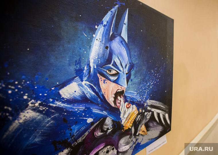 Выставка Екатерины Ичкинской в Колизее. Екатеринбург, художественная выставка, бэтмен, картины, batman