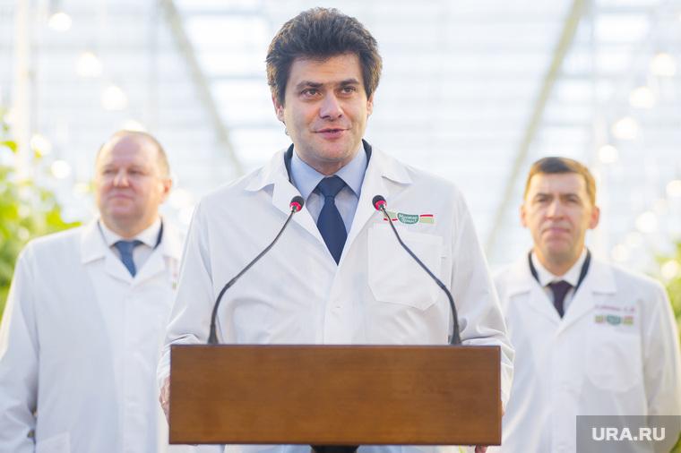 Открытие второй очереди инновационного тепличного комплекса «УГМК-Агро». Свердловская область, поселок Садовый, высокинский александр, куйвашев евгений, цуканов николай