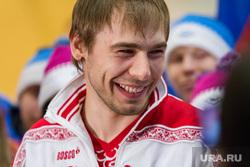 Встреча медалистов олимпийских игр Антона Шипулина и Юлии Скоковой в Кольцово. Екатеринбург
