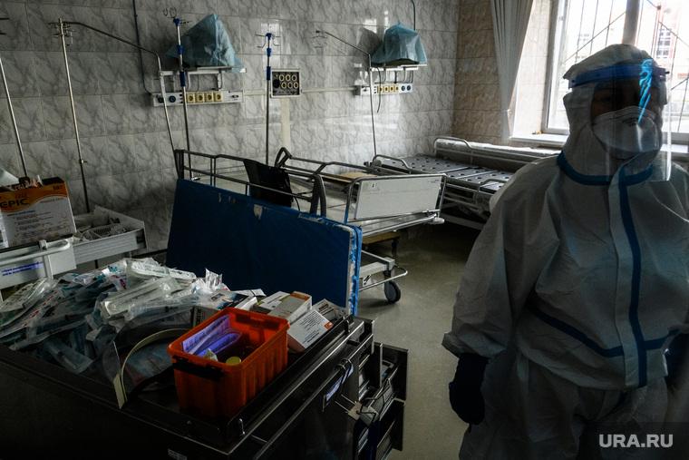 Дезинфекция красной зоны Госпиталя ветеранов войн. Екатеринбург