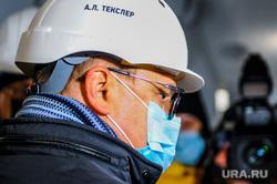 Поездка Алексея Текслера на строительство инфекционной больницы. Челябинск