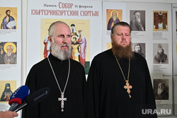 Пресс-подход по итогам третьего заседания Епархиального суда по отлучению Николая Романова от церкви. Екатеринбург