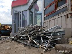 Демонтаж торговых павильонов на территории Некрасовского рынка. Курган