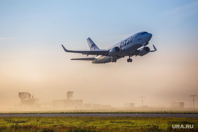 Очередной споттинг в Кольцово. Екатеринбург, utair, ютейр, самолет, туман, ютэйр