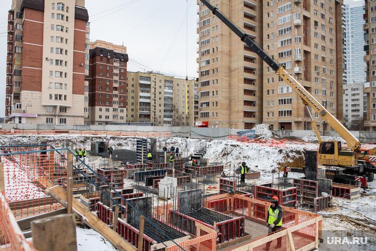Торжественная закладка первого кирпича в новом жилом комплексе «4 YOU». Екатеринбург, строительная площадка, жк 4you, жилой комплекс 4you