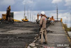 Ремонтные работы на мосту ЖБИ. Курган