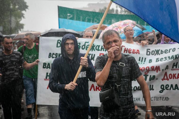 Акции в поддержку избранного губернатора Хабаровского края Сергея Фургала. Хабаровск