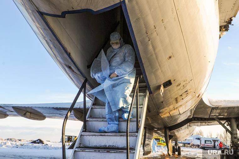 Учения экстренных служб, аэропорта имени Игоря Курчатова. Челябинск