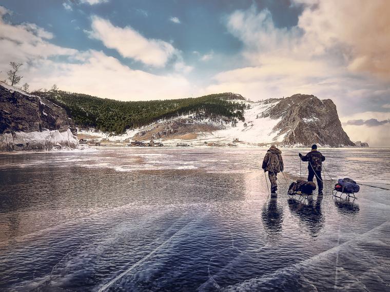 Озеро Байкал, лед, озеро байкал, ольхон