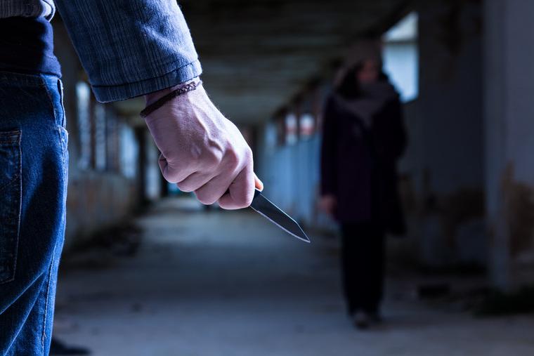 Клипарт депозитфото, нападение, насилие, преступление, убийца, маньяк, нож в руке, опасность, агрессия, криминал