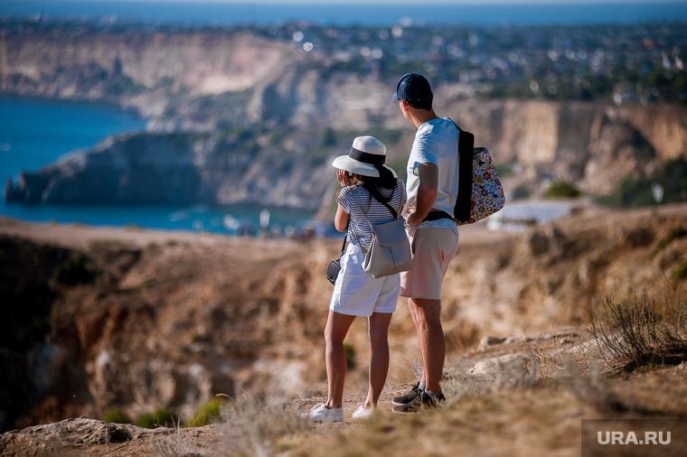 Отдых в Крыму, туризм, крым, крым, туристы, лето, черное море, вид с высоты, отдых, мыс фиолент