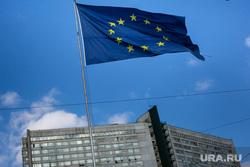 Флаг Евросоюза. Москва