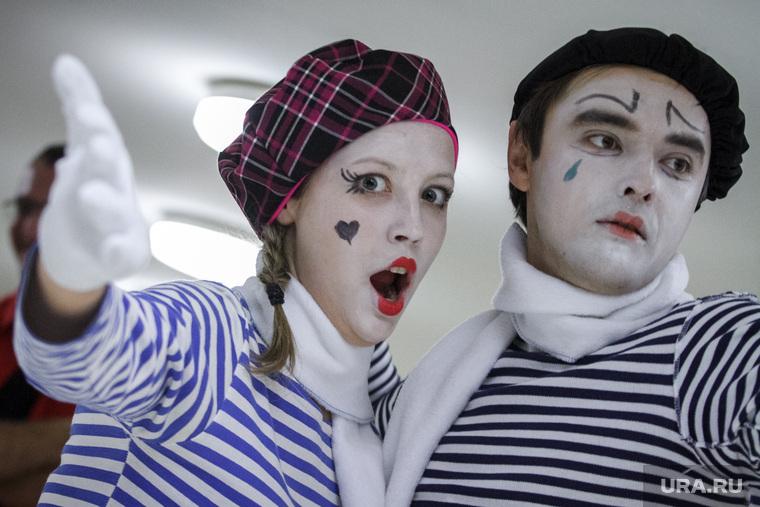 Церемония открытия Фестиваля неправильного кино в ККТ Космос. Екатеринбург, мимы, клоуны