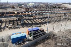 Строительство моста ЖБИ. Курган
