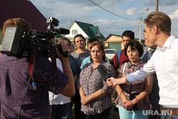 Жительница села Каскары Мария Кузнецова, пожаловавшаяся на отсутствие воды в поселке на прямой линии c Владимиром Путиным. Тюмень