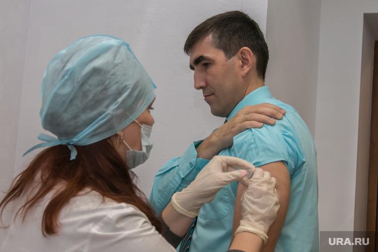 Вакцинация членов правительства Курганской обл. Курган, герштанский михаил, вакцинация