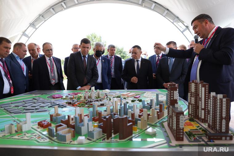 Церемония закладки первого камня района Новокольцовский. Екатеринбург