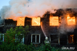 Пожар в деревянном доме по улице 8 марта. Екатеринбург