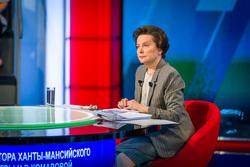 Пресс-конференция  Натальи Комаровой. Ханты-Мансийск